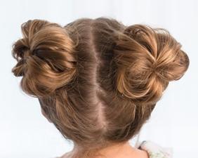 مدل موی گوجهای دوگوشی شلوغ دخترانه