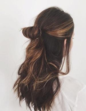 مدل موی نیمهباز مجلسی