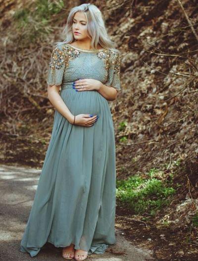 مدل پیراهن مجلسی برای زنان باردار