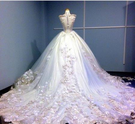 لباس پرنسسی مجلسی عقد و عروسی