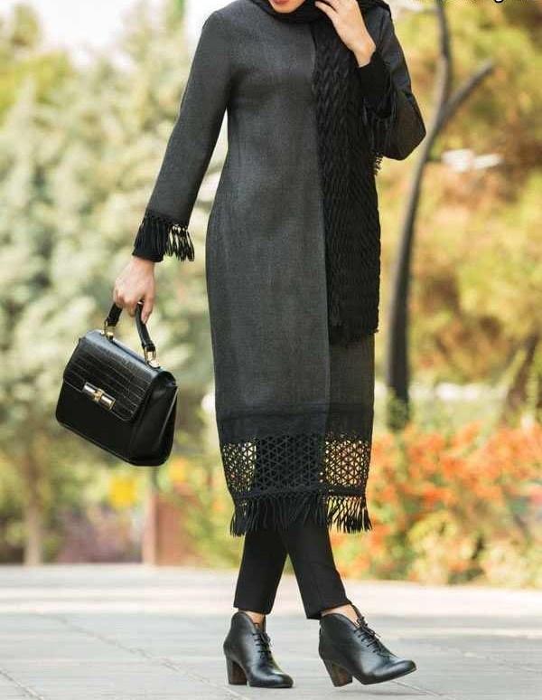 مدل مانتو مدرن با طرح تور