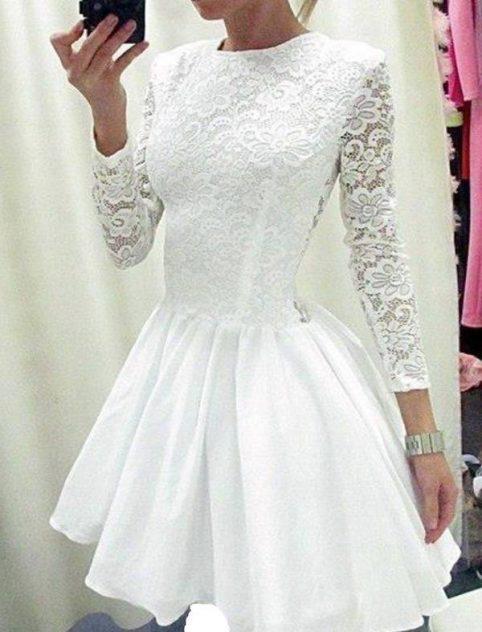 پیراهن سفید مجلسی دخترانه