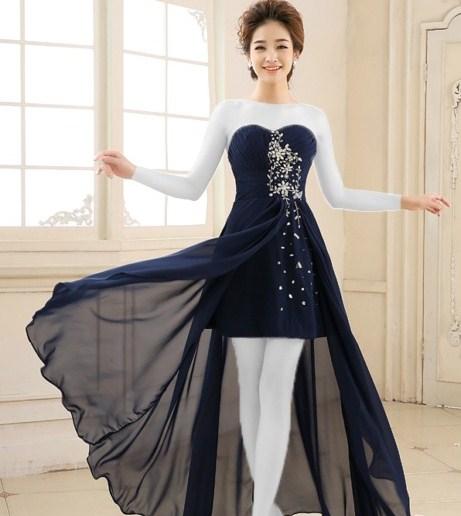 لباس مجلسی دخترانه دنباله دار
