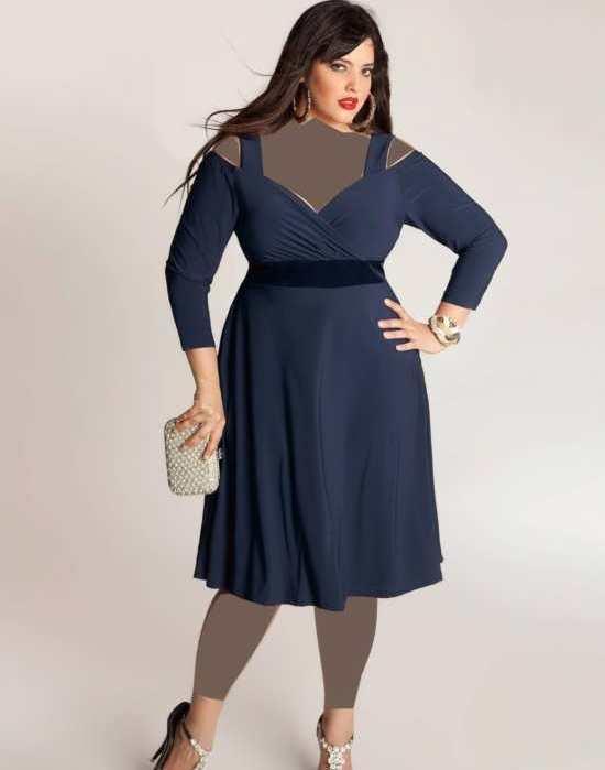 مدل لباس مجلسی چاق کوتاه