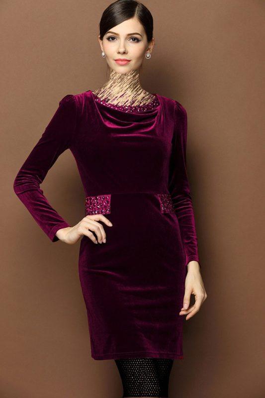مدل لباس مجلسی مخمل زیبا و شیک