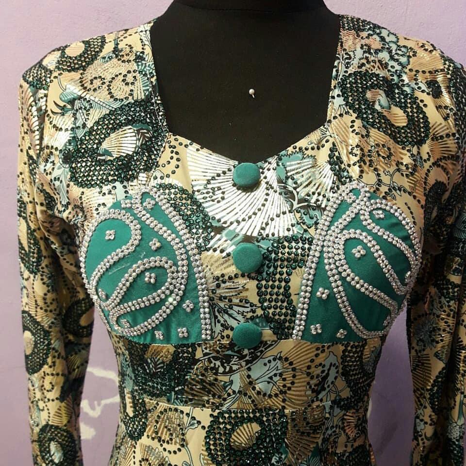 لباس بندری با طرح اسلیمی