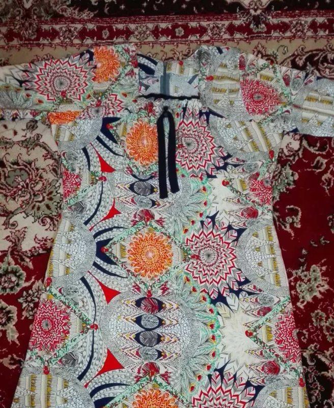 لباس بندری با طرح گل