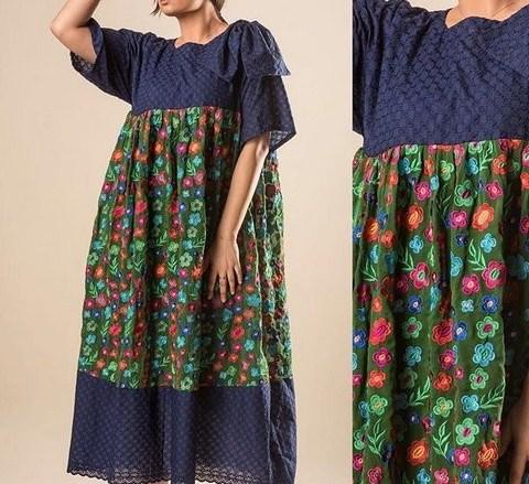 مدل لباس بارداری مجلسی با طرح گل