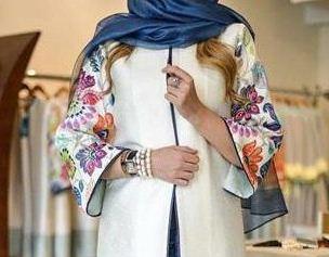 مدل مانتو با طرح آستین گلدار در اینستاگرام