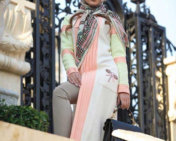 مدل مانتو فانتزی با طرح رنگی