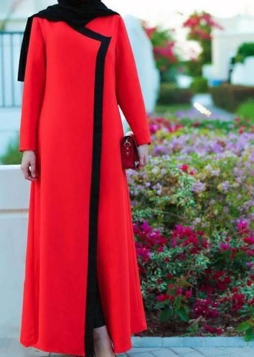 مانتو مرجانی بلند مدل زنانه