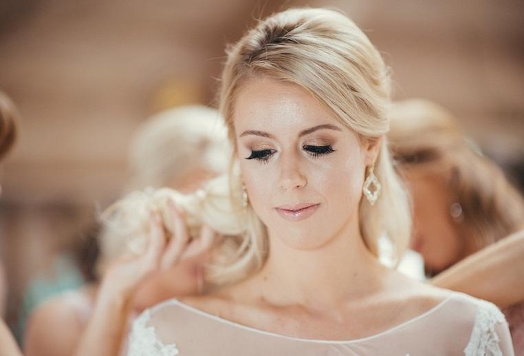 مدل ارایش ساده و زیبای عروس