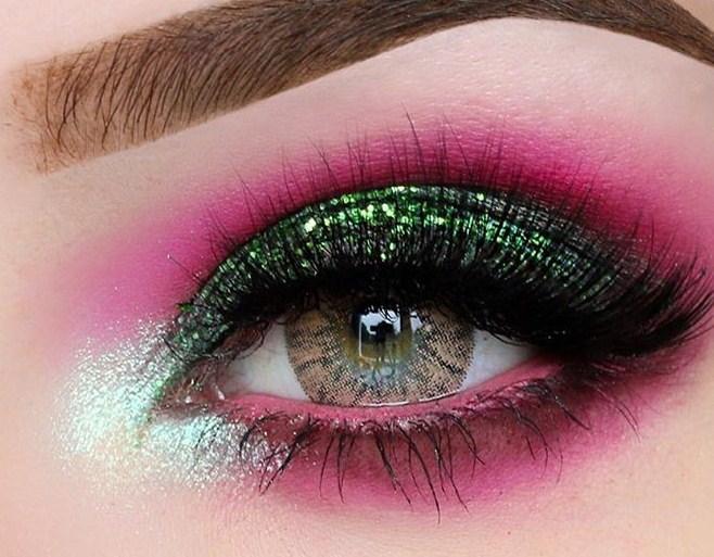 مدل آرایش چشم فانتزی