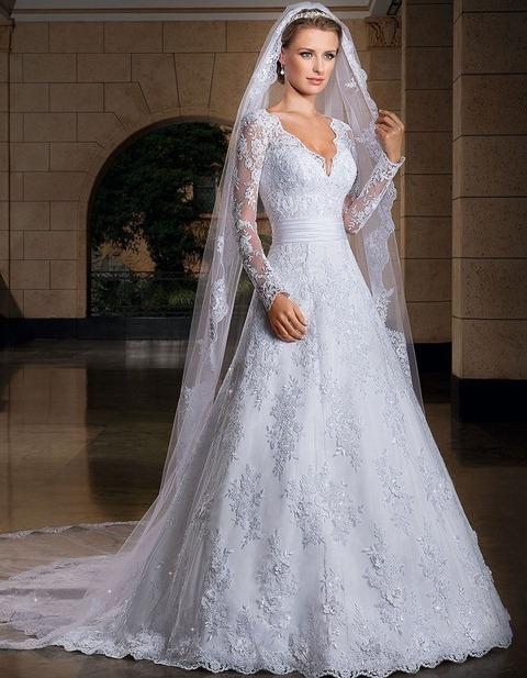 لباس عروس با تور جدید