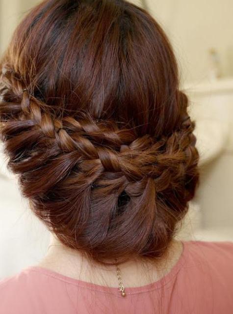 مدل موی بسته طرح بافته