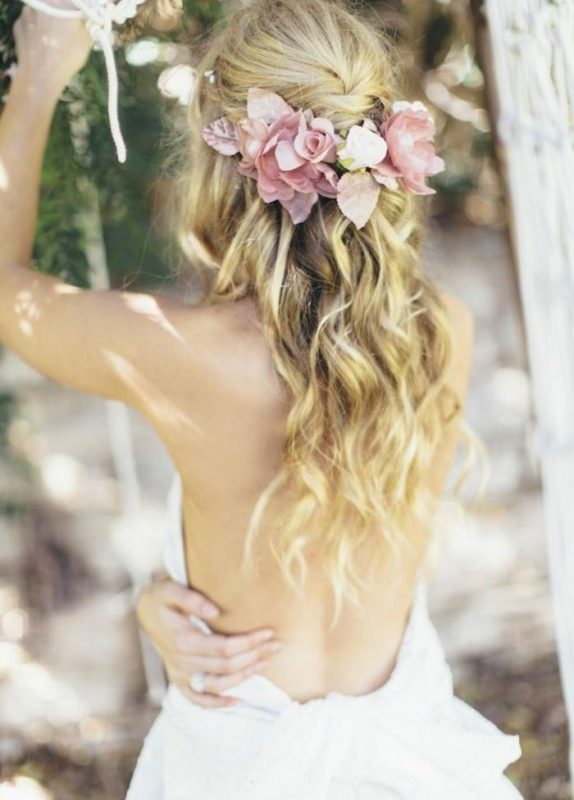 مدل موی آبشاری برای عروس