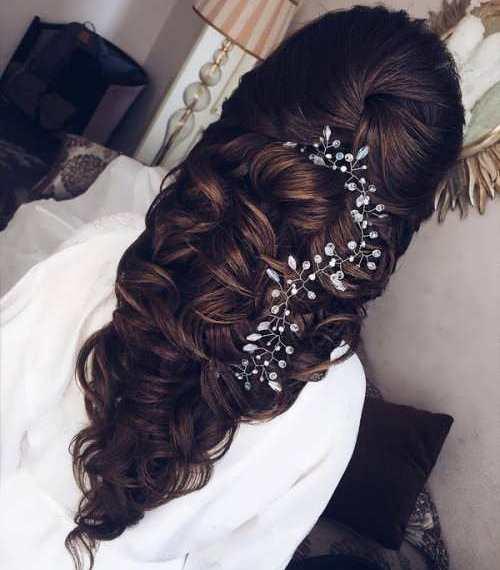 مدل موی بافته و فر برای عروسی