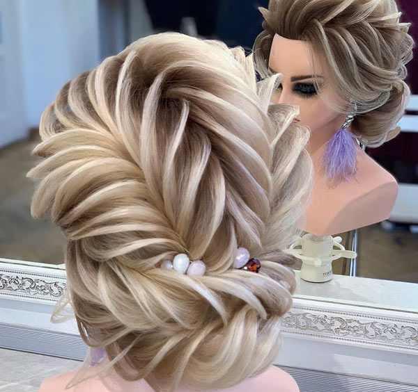 مدل تیغ ماهی برای موی عروس