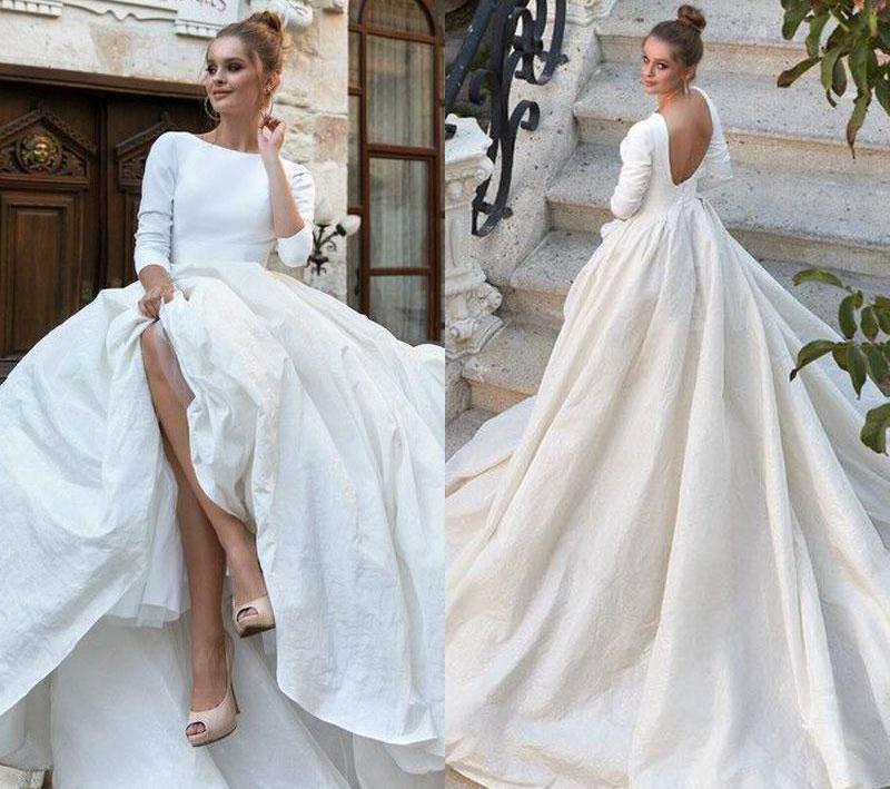 عکس های جذاب از مدل لباس های عروس طرح دار