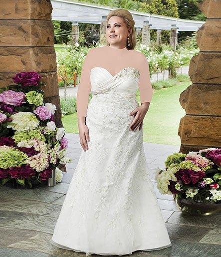عکس مدل لباس عروس برای افراد چاق