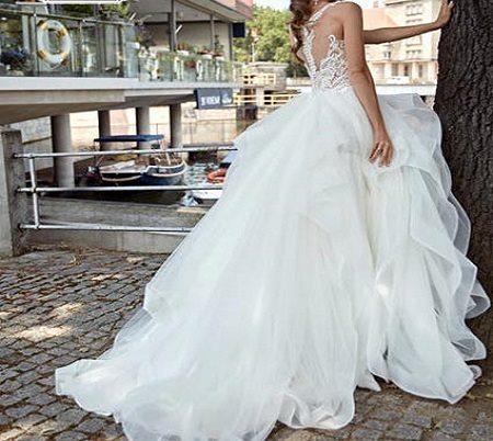 لباس عروس چین دار