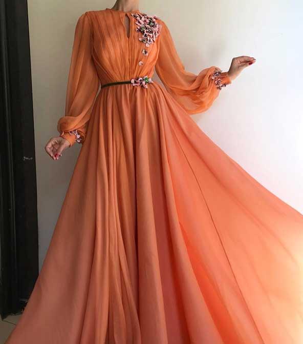 لباس مجلسی دخترانه ۲۰۱۹ با طرح گل