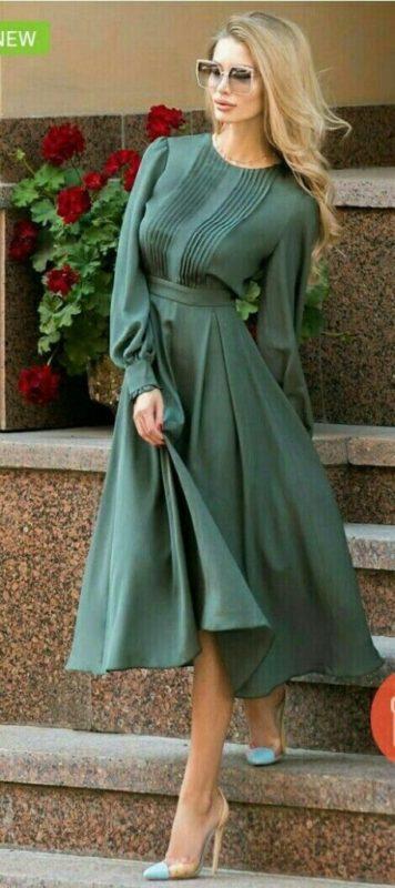 لباس مجلسی کوتاه ساده زنانه