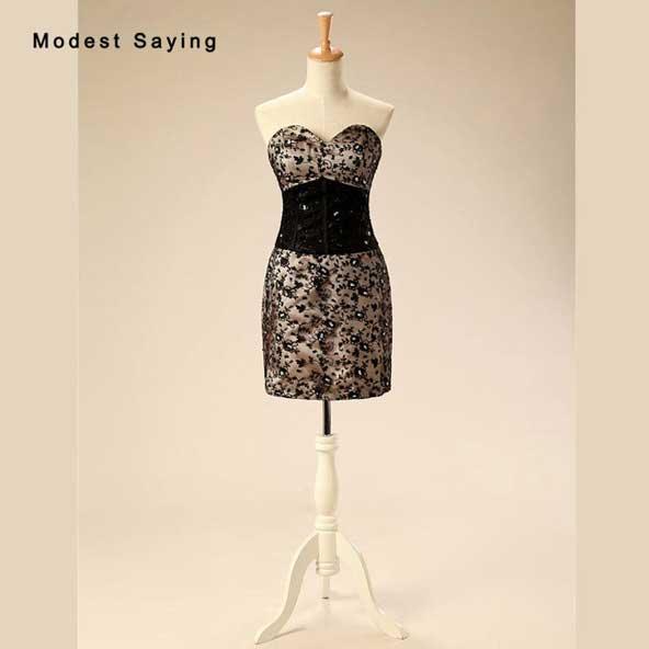مدل لباس مجلسی کوتاه دکلته ۲۰۱۹